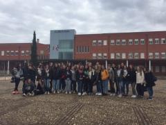 El grupo de 35 franceses y sus 3 profesoras.