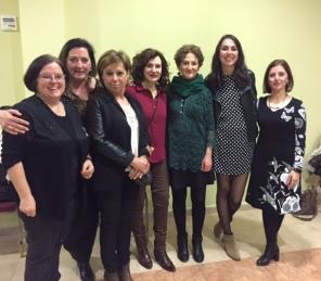 Las profesoras francesas y españolas.
