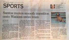 La prensa local se hizo eco de mi participación en el equipo
